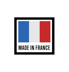 made in france isolated label for products vector image vector image