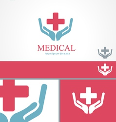 Medical pharmacy cross logo design template vector image vector image