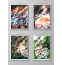 Brochure with Multicolored Polygonal Backgrounds vector image