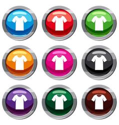 tshirt set 9 collection vector image