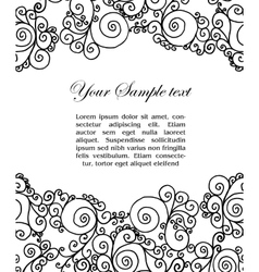 abtract black and white border vector image