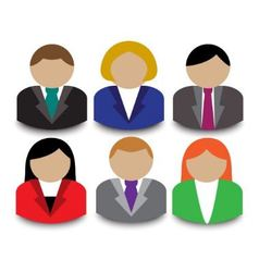 Business people avatars vector image
