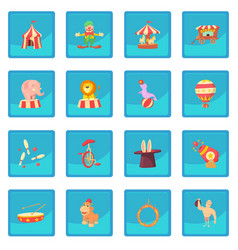circus icon blue app vector image vector image