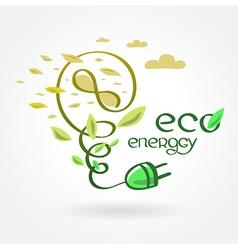 eco energy wind turbine alternative power vector image vector image