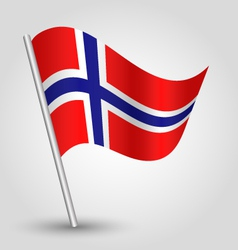 flag norway vector image vector image