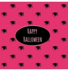 Happy Halloween on a pink background with spiders vector image vector image