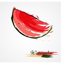 Watermelon fruit slice vector image