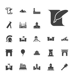 22 history icons vector image