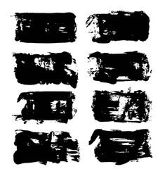 abstract big black long textured brush strokes vector image