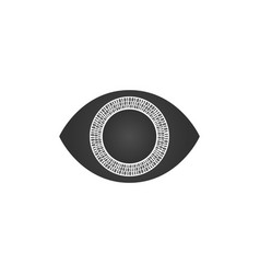 abstract futuristic digital technology eye with vector image