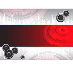 Abstract Hi tech music background vector image