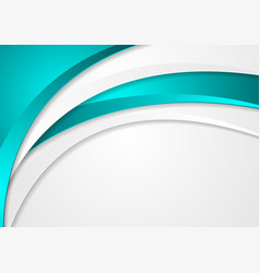 abstract turquoise corporate wavy background vector image