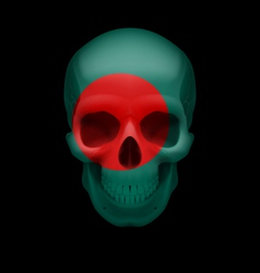 Bangladeshi flag skull vector