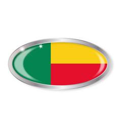 Belin flag oval button vector