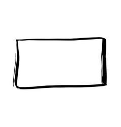 black ink hand drawn paintbrush frame vector image