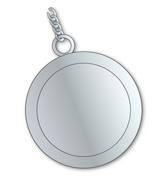 Blank lucky silver charm vector