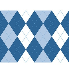 Blue argyle seamless pattern vector