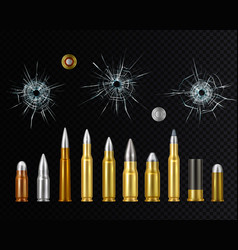 Bullets realistic background vector