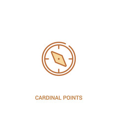 Cardinal points concept 2 colored icon simple vector