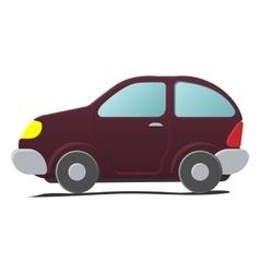 Cartoon little car vector