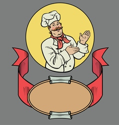 Chef in retro style vector