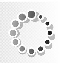 Circular loading sign new year blackish vector