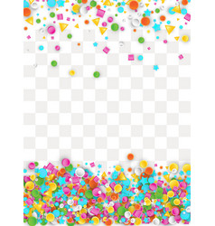 Colored carnaval confetti background vector