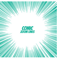 Comic speed zoom lines background vector