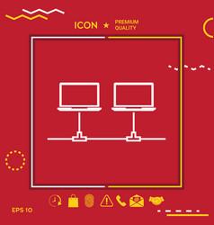 computer network icon vector image