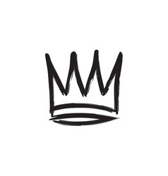 Crown hand drawn style vector