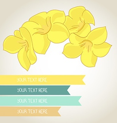 cute fully editable flower with a lot place for vector image