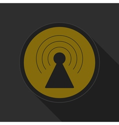 Dark gray and yellow icon - transmitter vector