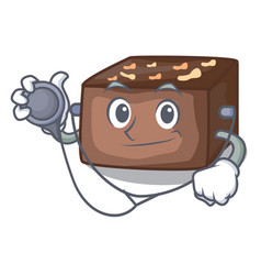 Doctor character cartoon almond cake with caramel vector