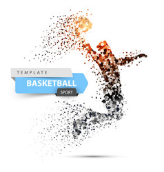 Dot basketball basketball player vector