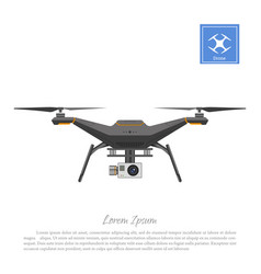 drone with action camera on a white background vector image