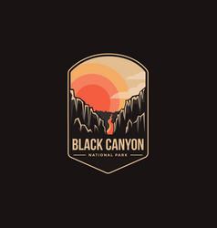 Emblem patch logo black canyon national park vector