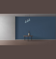 Empty room elegant interior realistic mockup vector