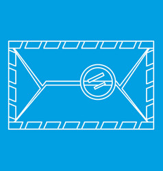 Envelope with postage stamp icon outline style vector