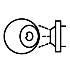 eyeball laser inspection icon outline style vector image
