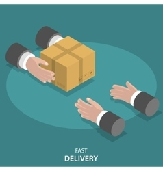 Fast goods delivery flat concept vector