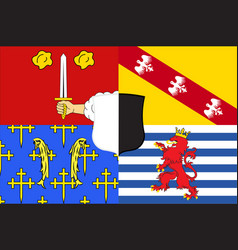 Flag of moselle in grand est is a french vector