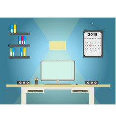 flat design modern concept of creative office vector image