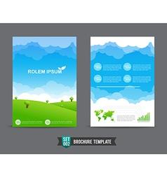 Flyer Brochure background template 0002 vector image