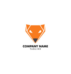 fox logo template icon design vector image
