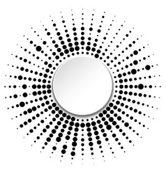 Frame with black dots vector