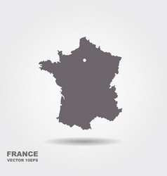 France map in white background vector