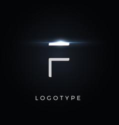 Futurism style letter f minimalist type vector
