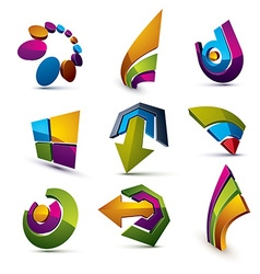 Geometric abstract shapes collection of arrows vector