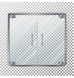 Glass door transparent clear glass door vector