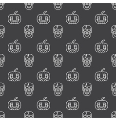 Halloween seamless pattern or background vector image